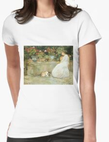 Vintage famous art - Childe Hassam - Reading Womens Fitted T-Shirt