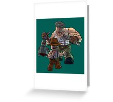 The Goon as Toy Bricks Greeting Card
