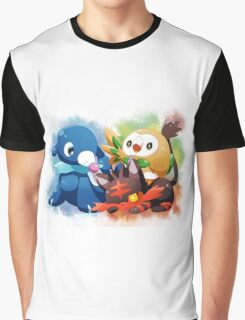 Pokemon - Popplio, Litten, Rowlet Graphic T-Shirt