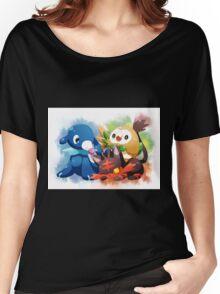 Pokemon - Popplio, Litten, Rowlet Women's Relaxed Fit T-Shirt