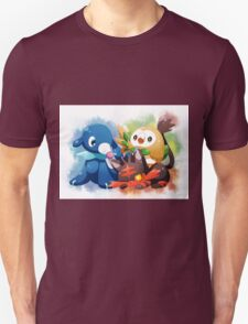 Pokemon - Popplio, Litten, Rowlet Unisex T-Shirt