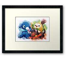Pokemon - Popplio, Litten, Rowlet Framed Print