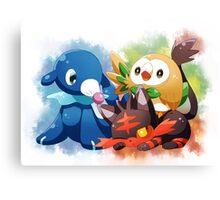 Pokemon - Popplio, Litten, Rowlet Canvas Print