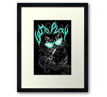 Lazy CAT art black Framed Print