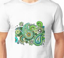 Green Paisley Swirls Unisex T-Shirt