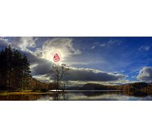 SCREAMING SUN EVENING LAKE RICK AND MORTY Photographic Print