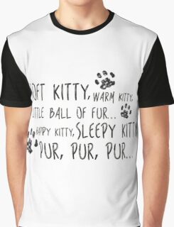 Soft Kitty Song Graphic T-Shirt