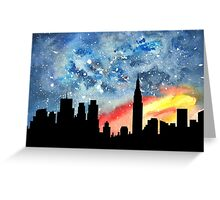 City Night Greeting Card