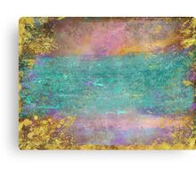 Sunset, Barbados - Impressionist original painting with gold leaf Canvas Print