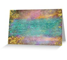 Sunset, Barbados - Impressionist original painting with gold leaf Greeting Card