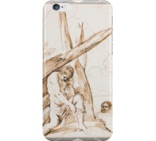 Francesco Barbieri, called Il Guercino BATHERS, A YOUTH DRESSING UNDER A TREE, AND A MAN SWIMMING iPhone Case/Skin