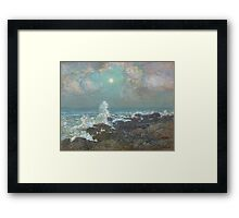 Vintage famous art - Childe Hassam - Seascape-Isle Of Shoals Framed Print