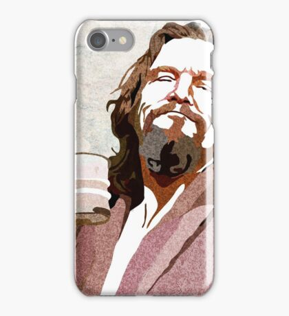 Big Lebowski DUDE Portrait iPhone Case/Skin