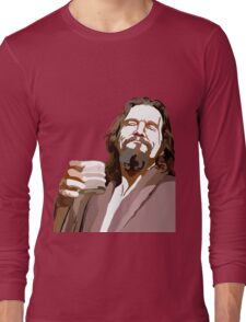 Big Lebowski DUDE Portrait Long Sleeve T-Shirt