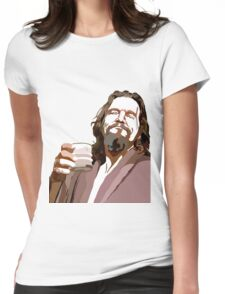 Big Lebowski DUDE Portrait Womens Fitted T-Shirt