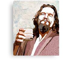 Big Lebowski DUDE Portrait Canvas Print