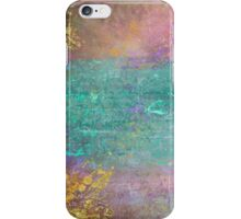Sunset, Barbados - Impressionist original painting with gold leaf iPhone Case/Skin