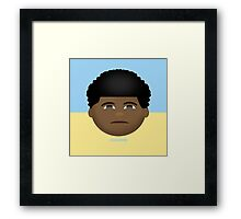 Childish Emoji Framed Print