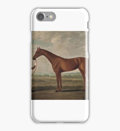 Francis Sartorius ()   A chestnut racehorse and groom iPhone Case/Skin