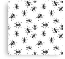 Ant colony insect pattern. Canvas Print
