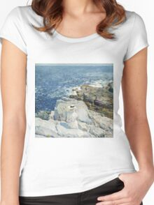 Vintage famous art - Childe Hassam - The South Ledges, Appledore Women's Fitted Scoop T-Shirt