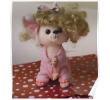 Out Of Focus Soft Toy With Wig Poster