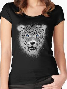 White Tiger - Paint Splatters Dubs Women's Fitted Scoop T-Shirt