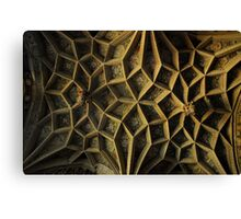 Ely Cathedral, Ceiling Detail. Cambridgeshire, UK Canvas Print