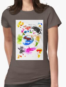 Abstract Ink Womens Fitted T-Shirt