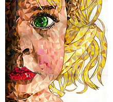 mosaic girl Photographic Print