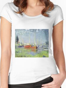 Claude Monet - Argenteuil 1882 Women's Fitted Scoop T-Shirt