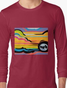 Fast Car - Abstract Graphic Long Sleeve T-Shirt