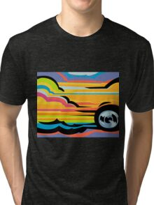 Fast Car - Abstract Graphic Tri-blend T-Shirt