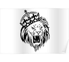 Crown Lion Poster