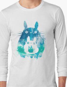 My Neighbor Totoro Watercolor  Long Sleeve T-Shirt