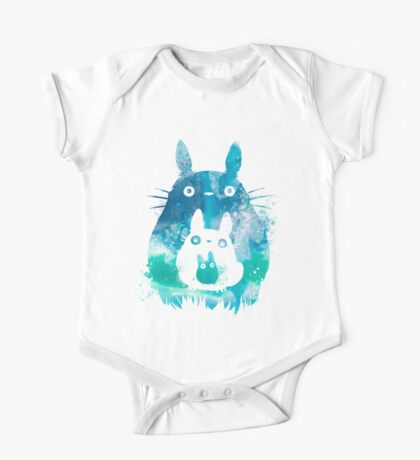 My Neighbor Totoro Watercolor  One Piece - Short Sleeve