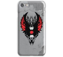 Retro PUNK ROCK Vinyl Record Art - Tribal Spikes and Wings - Cool Music Lover DJ T-Shirt  iPhone Case/Skin