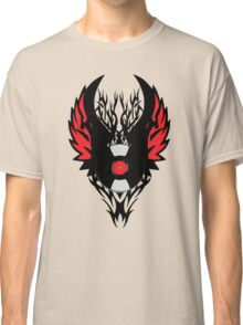 Retro PUNK ROCK Vinyl Record Art - Tribal Spikes and Wings - Cool Music Lover DJ T-Shirt  Classic T-Shirt