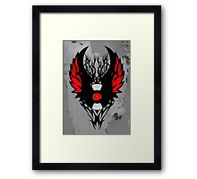 Retro PUNK ROCK Vinyl Record Art - Tribal Spikes and Wings - Cool Music Lover DJ T-Shirt  Framed Print