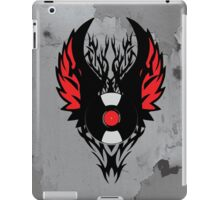 PUNK ROCK DJ Vinyl Record Art with Tribal Spikes and Wings  iPad Case/Skin
