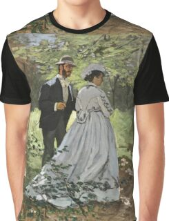 Claude Monet - Bazille And Camille 1865 Graphic T-Shirt
