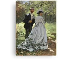 Claude Monet - Bazille And Camille 1865 Canvas Print