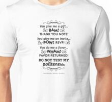 The Office Andy Bernard Quote - Politeness Unisex T-Shirt