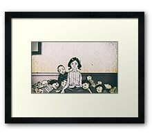 Japanese Dolls - Line Framed Print