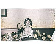 Japanese Dolls - Line Poster