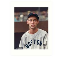 Ted Williams - Colorized Portrait Art Print