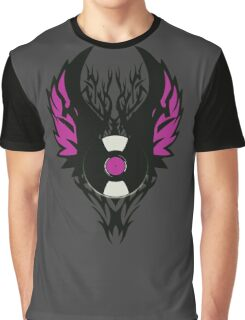 Vinyl Record Retro Punk Spikes Tribal with Wings - Purple Design Graphic T-Shirt