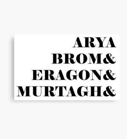 Eragon names Canvas Print