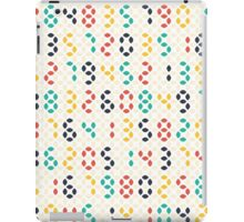 Abstract geometric spindle shape led numbers  iPad Case/Skin
