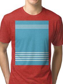 Trendy Blue and White Stripes Design Tri-blend T-Shirt